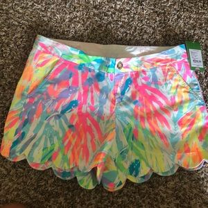 Lily Pulitzer buttercup shorts, size 6